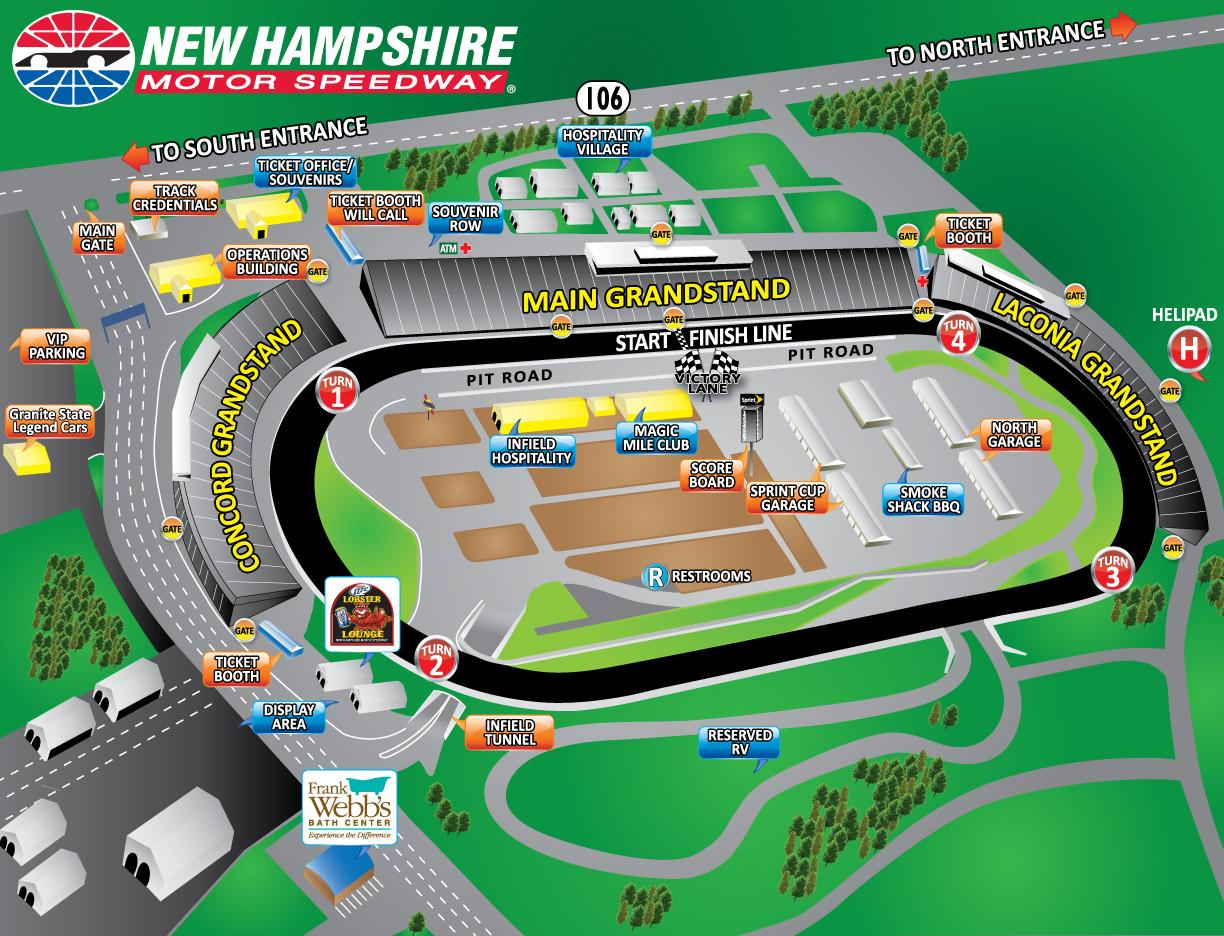 New hampshire motor speedway nhms driving track events for Charlotte motor speedway campground