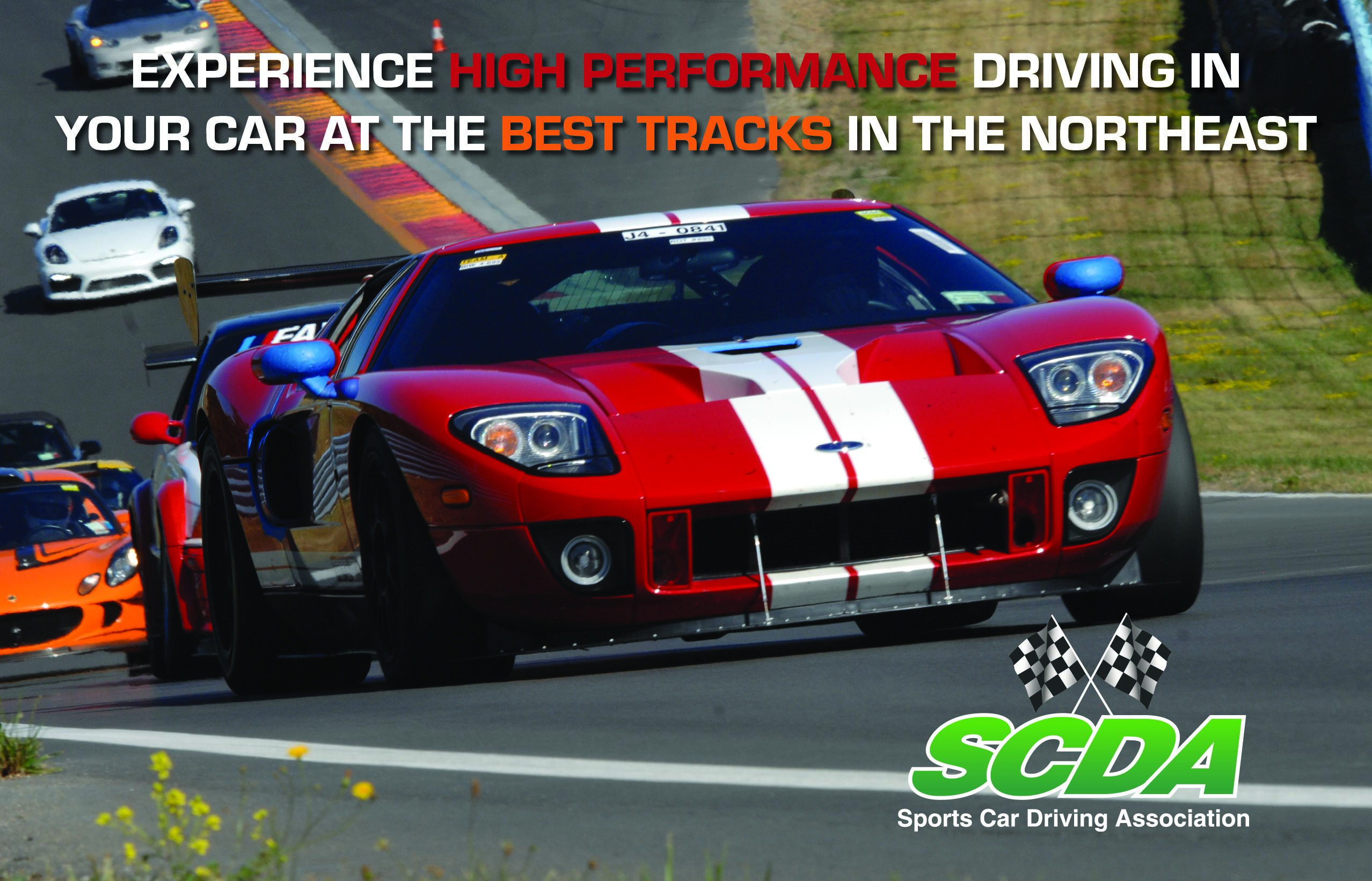 high performance driving track event brochure hpde scda