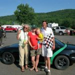First Place at Lime Rock June 19 2010 post race photo with Ann Prout, Ashley McAvey and my niece Elle McAvey