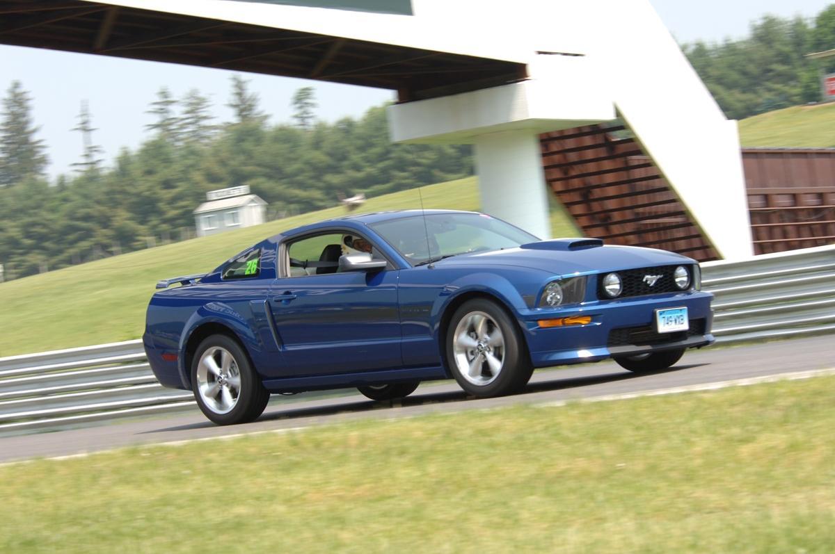 Craig Valois And His Ford Mustang Cobra At Lime Rock Park