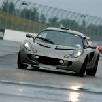 Colin Faber's 2007 Lotus Exige S negotiates Turn 3 at NHMS, Photo Courtesy of www.tracktimephotos.com