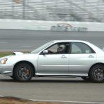 Joe Capasso driving his Subaru WRX STi at New Hampshire Motor Speedway